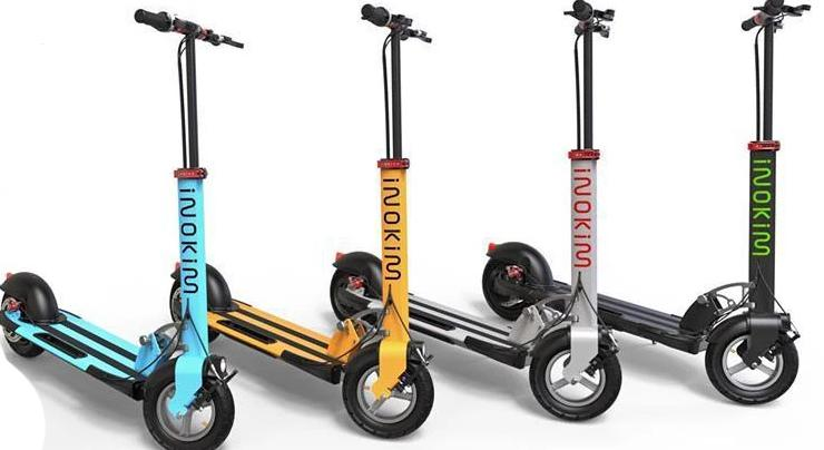 The Inokim colour range from blue, silver, yellow and black