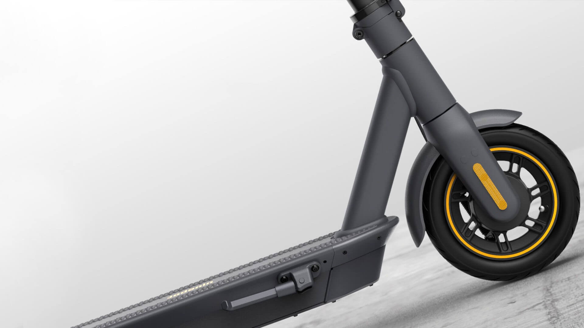 Close up tilted shot of the Segway Max