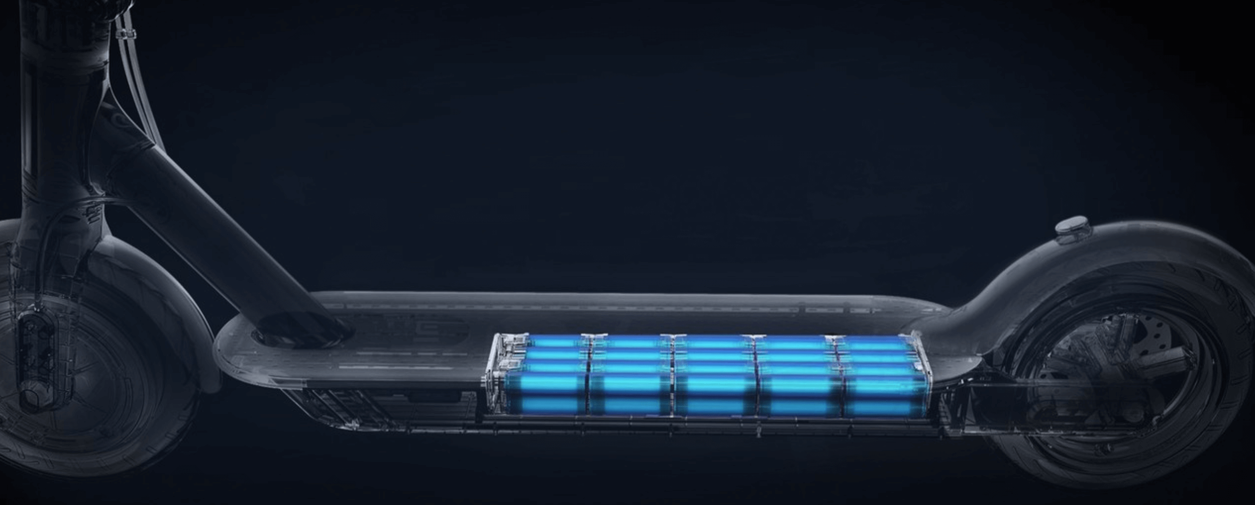 x-ray image of the M365 Pro battery pack