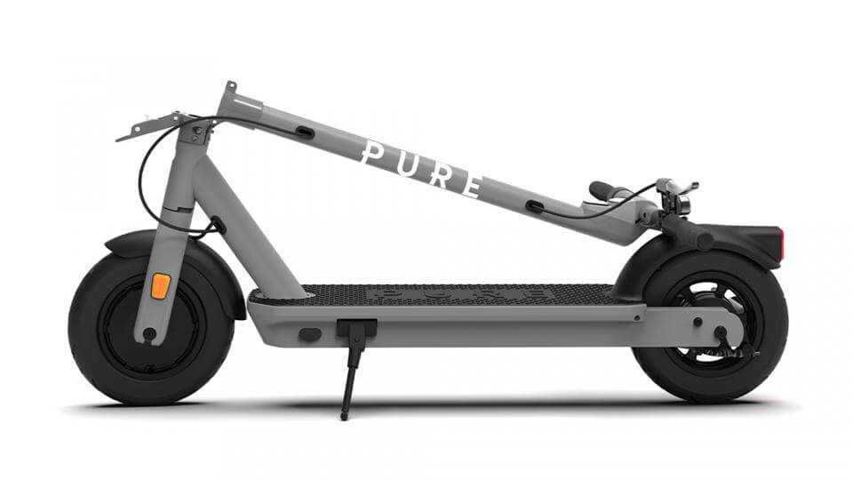 brand new pro e-kick scooter in mid grey