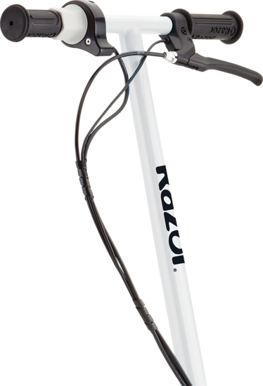 White and black handlebars fixed to the E200