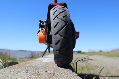 Ground level rear view of the Ox air-filled Pneumatic tyre by Inokim