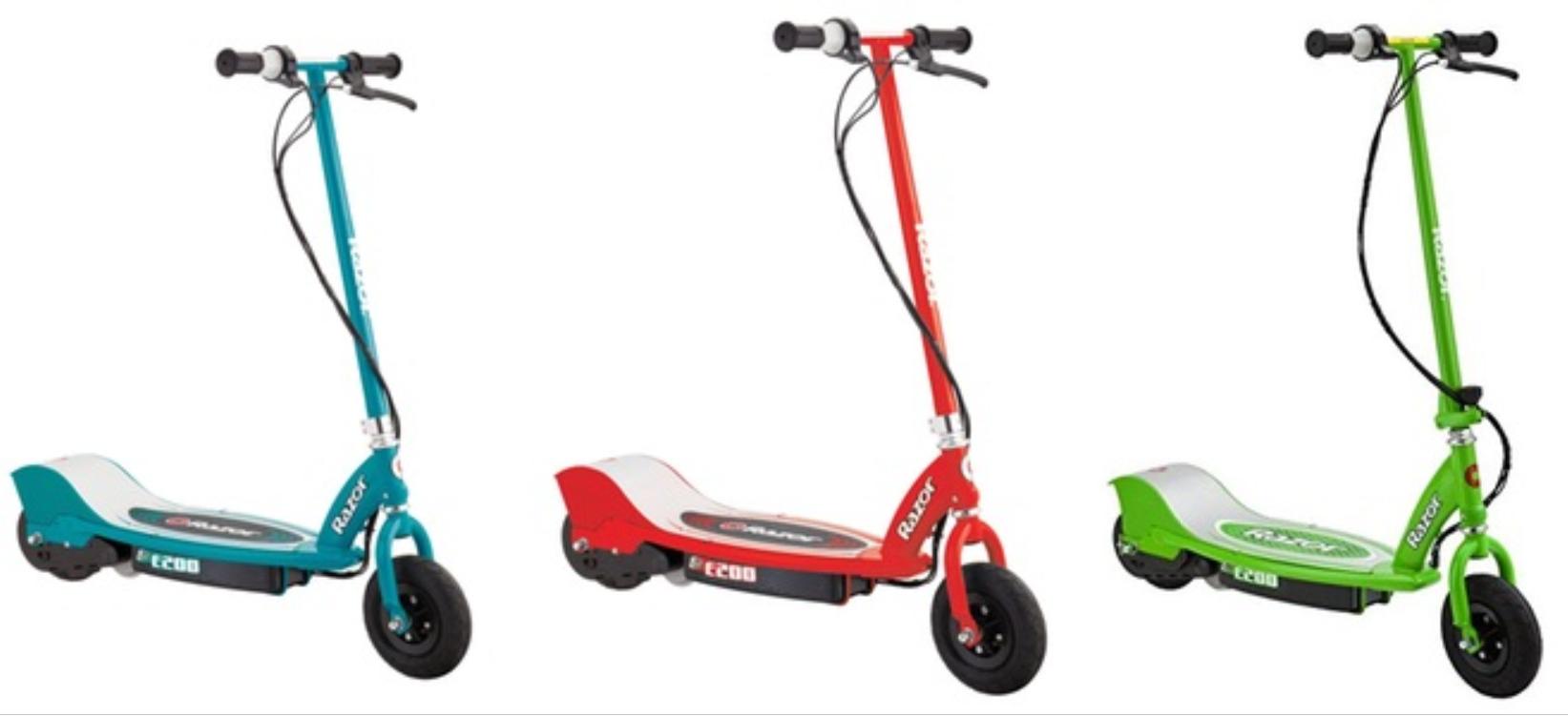 The E200 colour range offered by Razor.